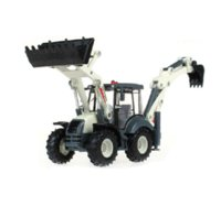 Wholesale Alloy Diecast Toy Digger and Excavator Truck Model Wheel Multi Function Excavator Metal Engineering Truck Collection Toys