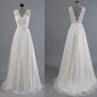 best sensual - Sensual Looking Fancy Clingy Best Sale Vantage V Back Lace Top Simple Design Wedding Party Dresses