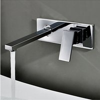 basin cabinet set - BECOLA Into the wall washbasin water tap Three piece set flush faucet Bathroom cabinet basin mixer BR