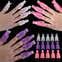 Wholesale Wearable Acrylic Nail Polish Removers Plastic Nail Art Soaker Caps Clip UV Gel Tool Resurrection Clip set Colors