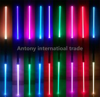 Wholesale Star Wars Lightsaber pec Led Flashing Light Sword Toys Cosplay Weapons Can Mutual percussion Sabers for boys Action