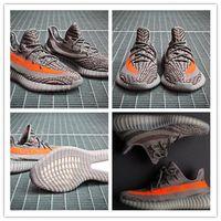 Wholesale With Box Boost V2 Kanye West Season SPLY Boost V2 Shoes Black White Grey Orange Athletic Sneaker size