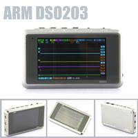 Wholesale Sale Titanium Color ARM DSO203 Nano V2 Quad CH Digital MINI Oscilloscope Silver Transparent Channel MS S Metal Cover