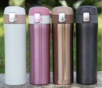 Wholesale 4 Colors Home Kitchen Vacuum Flasks Thermoses ml Stainless Steel Insulated Thermos Cup Coffee Mug Travel Drink Bottle