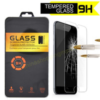 Wholesale For iphone plus mm HD Tempered Glass Screen Protector Protective Film with Retail package For iphone plus S6 Samsung On5