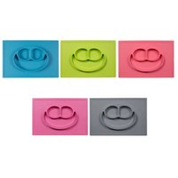 Wholesale New arrival Children Kid Baby silicon bowl one piece silicone placemat plate without logo DHL