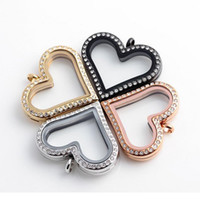 Cheap Top Grade 30mm 316 Stainless Steel Heart Floating Locket Glass Frame Memory Floatings Charms Lockets Pendants Jewelry Wholesale 0073KLF