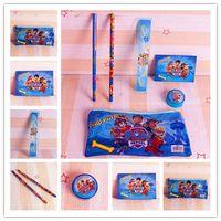 Wholesale Kids Cartoon Paw Patrol Stationery Set For Student Children Pencil Case Pencil Bags Notebook Ruler Pencil Eraser Sharpener