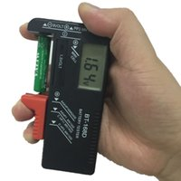 Wholesale Portable Digital Battery Tester BT D Black Digital Battery Power Measuring Instrument The Function Battery Tester
