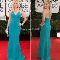 actress free - evening dress Light Blue Popular Actress Vestidos de noiva Golden Globes Sexy Slim Red Prom Dress