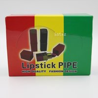 alluminum pipe - Lipstick Metal Smokinig Pipes cm Length inches For Sale Smoking Mini Alluminum Smoking Pipe Accessories
