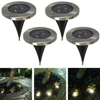 Wholesale 4Pieces Solar power Underground lamps led buried lights square garden lights home outdoor lighting