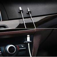 adhesive cable clips - Multifunctional Adhesive Car Charger Line Clasp Clamp Headphone USB Cable Car Clip Interior Fastners Styling Accessories