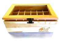 best wood windows - Best Essential Oils Wooden Box By Oils for Everything Holds Essential Oil Bottles with See Through Window