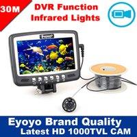 Wholesale Eyoyo Original M TVL Underwater Camera Ice Sea Boat Fishing Finder Video Recording DVR Monitor Infrared IR LED