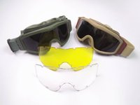 airsoft girls - High Quality Military Goggles Glasses Safety Sport Outdoor Eyeshields Sunglasses ESS Glasses Men s Airsoft Glasses