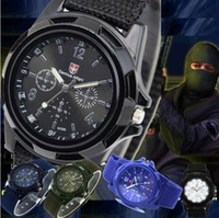 Wholesale Sports men s watches Gemius Swiss army watch replicas military style sport men wristwatch woven watchband watches