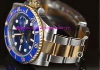 authentic luxury watches - Luxury Watch Stainless Steel Bracelet mm LB BLUE CERAMIC GOLD STEEL UNWORN AUTHENTIC Stainless Steel Bracelet MAN WATCH Wristwatch