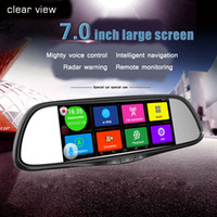Wholesale 7 inch screen hd night vision before and after the double tape navigation six bo degree wide Angle camera recorder car dvr