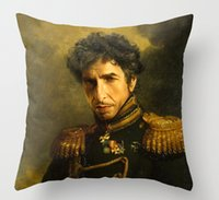 Wholesale Hot Funny Bob Dylan replaceface Square Zippered Throw Pillows Decorative Pillowcase Twin Sides Art