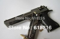 Wholesale metal black Desert Eagle gun toy handgun model gift for boys gun metal
