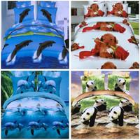 Wholesale fashion Home Textiles D animal Reactive printing cotton bedding set duvet quilt cover bed sheet Pillowcase bedclothes SS21