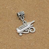 antique liqueur - liqueur Style Big Hole Loose Space Beads Charms Swing bead Antique Silver Pendants for DIY Bracelet Necklace Jewelry women jewellry DK516