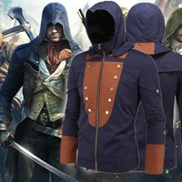 assassins creed costume pattern - 2016 autumn New Fashion Autumn Winter Assassin Creed Hoodie jacket Chadal Hombre Cosplay Costumes Cool Zipper jacket Men casual