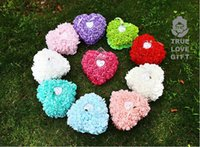 Wholesale Brand New Wedding Ceremony Satin Crystal Flower Ring Bearer Pillow Cushion Colors for Choosing Min