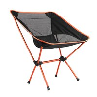 Wholesale Portable Folding Camping Stool Chair Seat for Fishing Festival Picnic BBQ Beach with Bag Red
