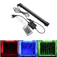 Wholesale High Quality LED SMD RGB Underwater Aquarium Fish Tank Air Bubble Light Colors with Remote V V