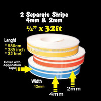 Wholesale 1Pc mm mm cm Pinstripe Decals Vinyl Tape FT Double Stripe Stickers M00007 FASH
