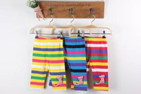 Wholesale 2016 Baby boys girls Pants fashion Kids boys girls elasticity stripe relaxation pant babies clothes