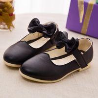 Wholesale Kinderschoenen Promotion Real Dance Shoes Bear Thai Kids Shoes Spring And Autumn Princess Scoop Black Children Students