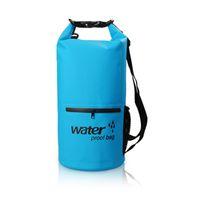 Wholesale 500D PVC colorful waterproof dry bag outdoor ocean pack dry storage L outdoor pack zipper bag sport pack drop shipping