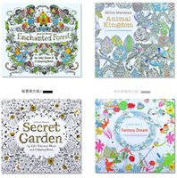 adult baby book - New Baby secret garden coloring book painting drawing book Pages Animal Kingdom Enchanted Forest Relieve Stress For Children Adult