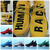 Wholesale 2016 Mens Pharrell Williams X Human Race NmDer Running Sports Boost Shoes Yellow White Black Red HumanRace Sneaker US7