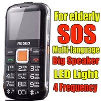 big button phone for elderly - Mobile Phone for Elderly Senior SOS Call with Big Button Multi language Dual SIM Dual Standby LED Light Frequency For Old Man Big Speaker