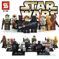 Wholesale Star Wars Figures SY198 Star Wars Action Figures Toys with Star Wars Lightsaber Building Blocks Brick Star Wars Toys Minifigures