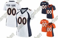 authentic broncos jerseys - 2016 Custom Women s Denver Bronco Game Football Home Away Personalized Jersey Authentic High Quality Stitched Wear
