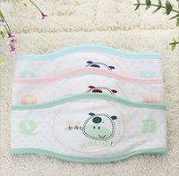 baby umbilical cord - Cartoon Printed Baby Belly Belt Infant Newborn Umbilical Cord Care Bandana Kids Baberos Bebes Girls Boys Burp Clothing Bibs