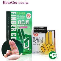 Wholesale HoozGee Pleasure More Finger Sleeve Condoms Sex Products Sexual Health Latex Condoms Lubrication of Aloe Vera