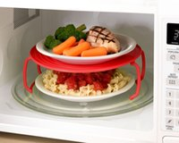 Wholesale 4 in microwave plastic stand it s a tray a plastic stacker a lid and a cooling rack