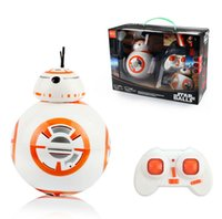 Wholesale Star Balls Wars Remote control robot Spherical robot BB intelligent robot Toys Multi angle motion Interactive robot