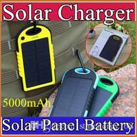 achat en gros de boutons de manchette en soie-5000mAh Chargeur solaire et imperméable banque antipoussière antichoc de puissance portable Batterie Panneau Solaire pour Mobile Cellphone iphone 7 B-YD