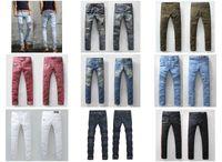 mens designer jeans - BALMAIN jeans men balmai hot mens designer jeans famous brand balmai jeans men distressed jeans ripped denim mens cut jeans