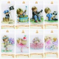 Wholesale sheet Boy Girl Transparent Clear Silicone Stamps for DIY Scrapbooking Card Making Kids Crafts Fun Decoration Supplies