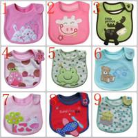Wholesale Baby Burp Cloths Fashion Cotton Cartoon Baby Soft Bibs Waterproof Cartoon Bib Burp Cloths For Children Self Feeding Care A2016004