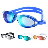 Wholesale The new multicolor adult professional racing goggles electroplating big box anti fog goggles diving glasses swimming goggles waterproof
