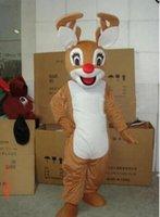 adult reindeer costume - 2017 year hot selling Reindeer Adult Mascot Costume fancy dress